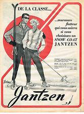 PUBLICITE ADVERTISING 094  1953  JANTZEN   vetements de ski  SNOW COAT