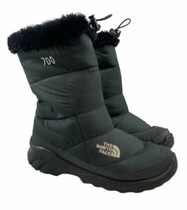 The North Face 700 Series Nuptse Goose Down Slip On Black Snow Boots Size 7