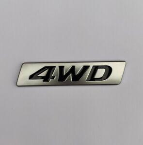 4WD Black Silver Alloy Metal Badge Emblem Sticker for 4x4 4 Wheel Drive Car SUV