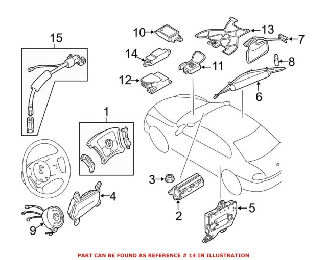 BMW OEM 96-99 328i Airbag Air Bag Srs-side Impact Sensor 65776902054