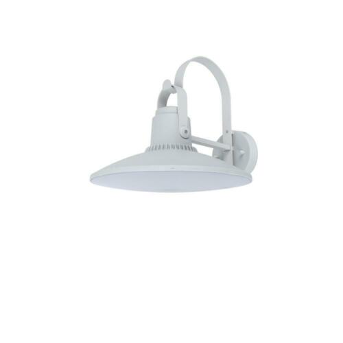 Coastal Cape Cod White Outdoor Integrated LED Wall Mount Barn Light Sconce Lante