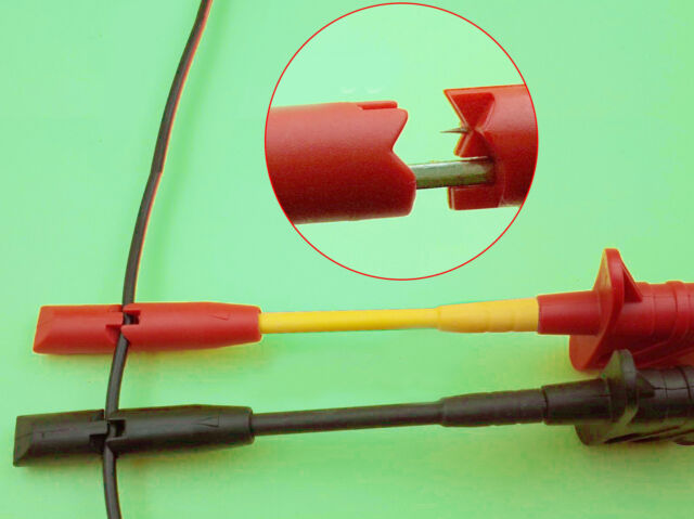 2Pcs Safety Test Clip Insulation Piercing Probes For Car Circuit Detection /_UK