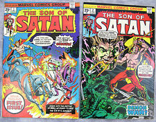 Son of Satan #1 & 2 25¢ Gil Kane Covers 1st Solo Series KEY Excellent BIG PICS
