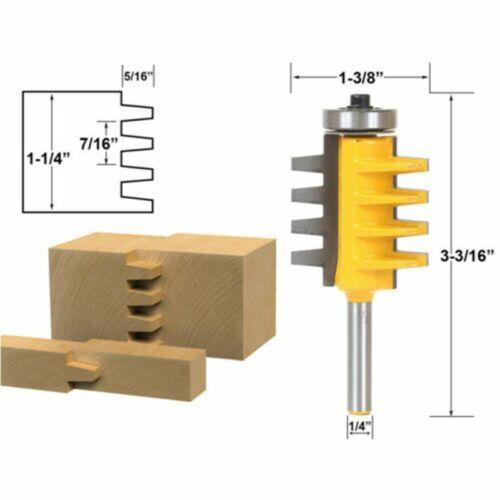 "Cutter Woodworking Tool Reversible Shank Finger Glue Joint Router Bit 1//2/"" 1//4/"""