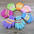 Kids Toddler Winter Soft Gloves Mitten Unisex Down Full Finger Stripe Warmer HOT