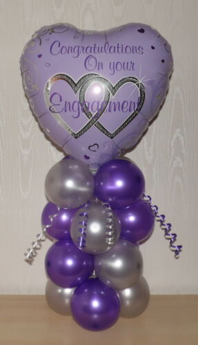 CONGRATULATIONS ON YOUR  ENGAGEMENT TABLE CENTREPIECE FOIL BALLOON DISPLAY