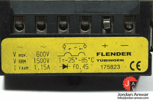 FLENDER 175823 BRAKE RECTIFIER SHIPPING VIA DHL EXPRESS