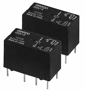 3e4bc2396a Image is loading OMRON-2PCS-9v-DC-DPDT-Relay-PCB-8-