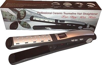 Hair Straightener/Flat Iron Professional Ceramic Tourmaline Plates/Color Silver