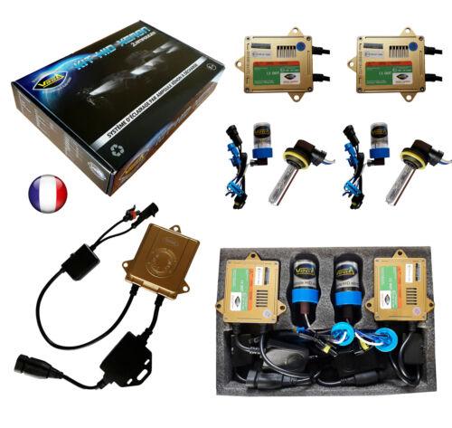 ► Kit HID Xénon VEGA® 55W 2 ampoules H9 10000K Canbus ODB Marque Française ◄