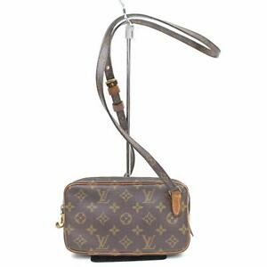 Authentic Louis Vuitton Shoulder Bag Pochette Marly Bandouliere M51828 322842 by Louis Vuitton