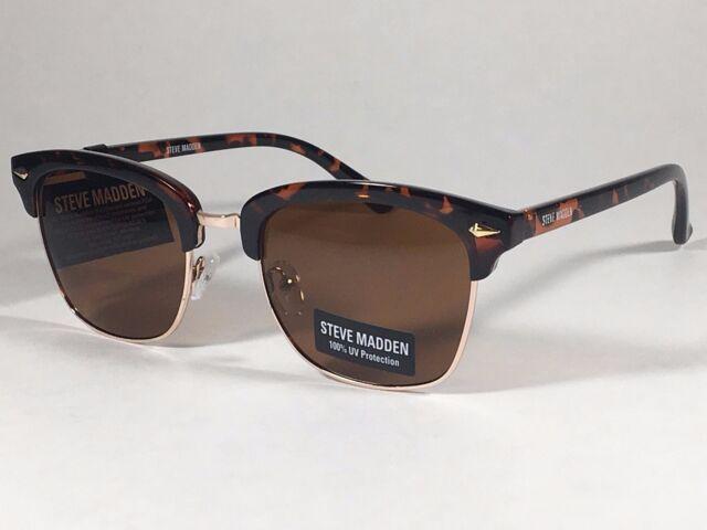 4a028706f7 New Steve Madden Soho Horn Rim Sunglasses Tortoise Gold   Brown Lens  SMM87724