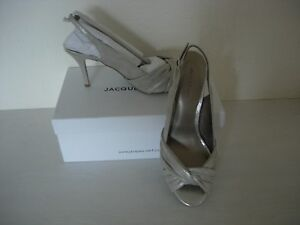 Size grey Slingback Vert 4 Shoes Metallic new Jacques dwqXxIEw