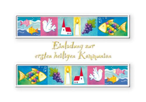 50 Einladungskarten Einladung Kommunion Kommunionkarten 12 sk 1318