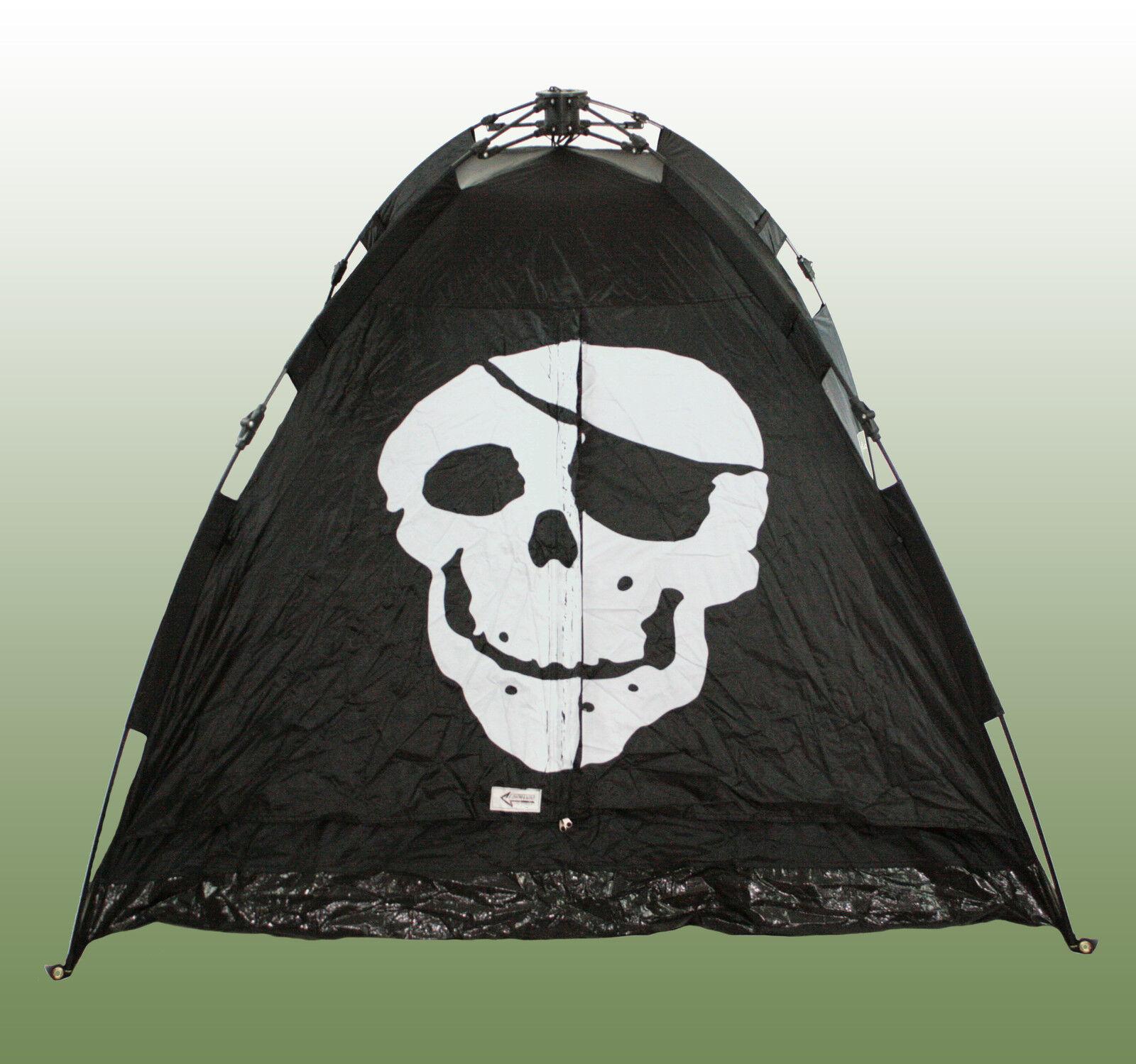 Schnellaufbauzelt Jolly Roger Zelt schwarz schwarz schwarz Totenkopf Sekundenzelt Automatikzelt  | Günstig  c7fbe7