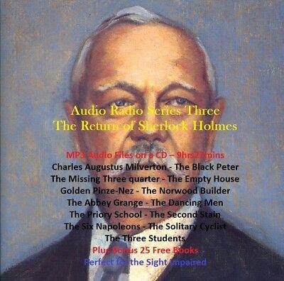 CD - Sherlock Holmes - The Return - Series 3 - Radio Shows +