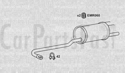 Exhaust Rear Box Triumph Acclaim 1.3 Petrol Saloon 09//1983 to 06//1984