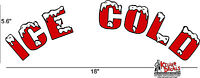 18 Arched Red Ice Cold Soda Coca Cola Pepsi Cooler Decal Sticker