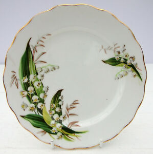 Vintage-Melba-Bone-China-Tea-Plate-Lily-of-the-Valley