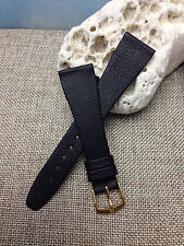 20mm BLACK VINTAGE HIRSCH GENUINE CALF LEATHER MENS HIGH QUALITY WATCH BAND  NEW