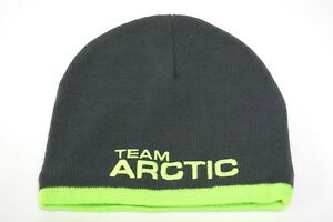 f1cd4dff64c Youth Kids Lime Green   Gray Team Arctic Cat Beanie Hat 5279-565 ...