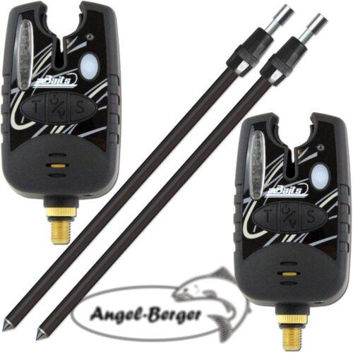 2x Angel Berger Elektronische Bissanzeiger mit Tele Erdspeer