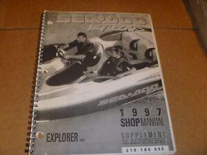OEM 1997 SeaDoo Explorer 5824 Service Shop Repair Manual Supplement 219100055