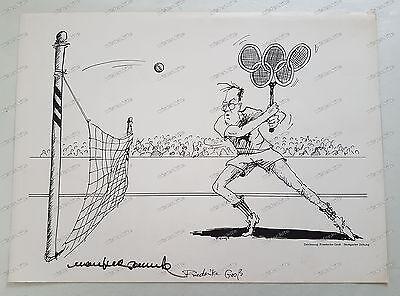 Antiquitäten & Kunst Original, Zertifiziert Friederike Gross-druck-karikatur-unterschrift-manfred-rommel-stuttgart-2 Bestellungen Sind Willkommen.