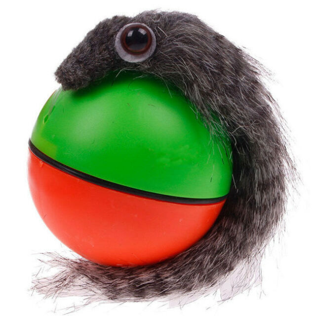Funny Alive Dog Cat Weasel Jumping Moving Rolling Pet Ball Toy t