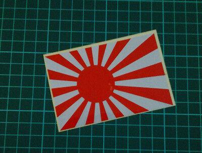 "6"" Reflective Japanese Navy Flag Rising Sun JDM Style Vinyl Decal Sticker"