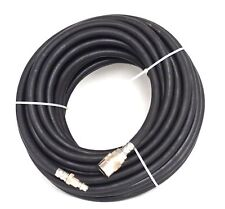 "1/4"" x 50 FT Rubber Air Hose Quick Coupler Fittings"