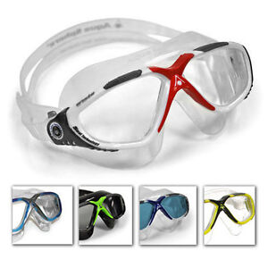 e949d9327a6 Aqua Sphere Vista Mens Swimming Goggles Anti-Fog Clear   Dark Lens ...