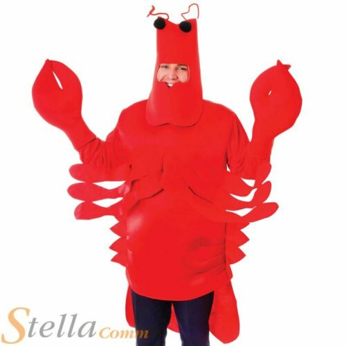 Adulte Homard Costume Homme Femme Mer Crabe Animal Fancy Dress Outfit