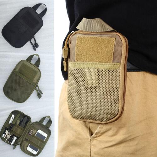 Tactical Molle Waist Belt Bag Military Phone Key Light Pouch Pocket Waterproof