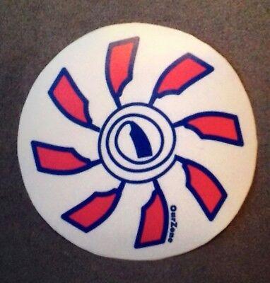 """OAR FLOWER Crew Rowing Decal Sticker 4/"""" diameter with 8 Oars"""