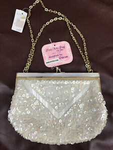 Vintage-Women-039-s-Ivory-Mother-of-Pearl-Beaded-Evening-Purse-Fine-Arts-Bag-Dikran