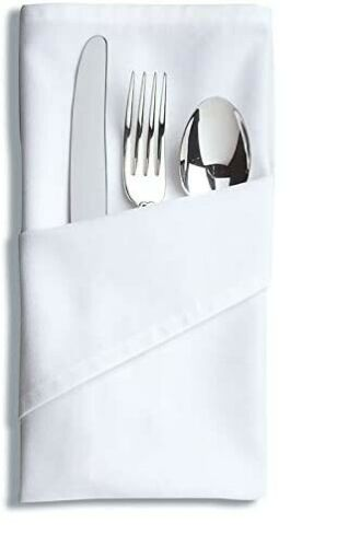 best prices and freshest styles Cloth Dinner Table Napkins White ...