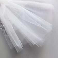 Weiß bräutlich tüll schleier stoff 300cm breit super fein zarter netzstoff