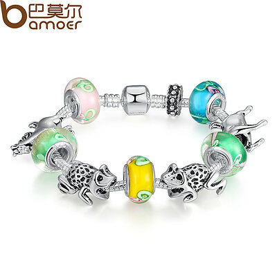 DIY Luxury European Silver Charm Bracelet Animal Bead For Women Christmas