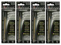 Four Black Ink Su4f Fisher Space Pen Universal Su Series Ink Refills