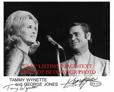 GEORGE JONES AND TAMMY WYNETTE AUTOGRAPHED 8x10 RP PHOTO PHOTO GREAT DUET