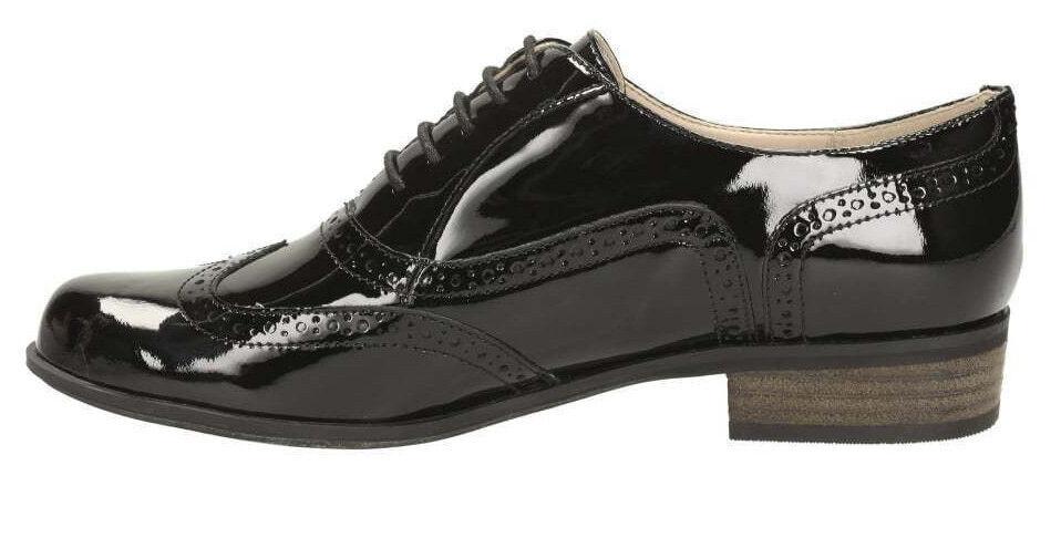 Clarks Hamble Oak4 Damen Schwarz Lack Schuhe ) UK5 D Fitt (Go ) Schuhe eca73a