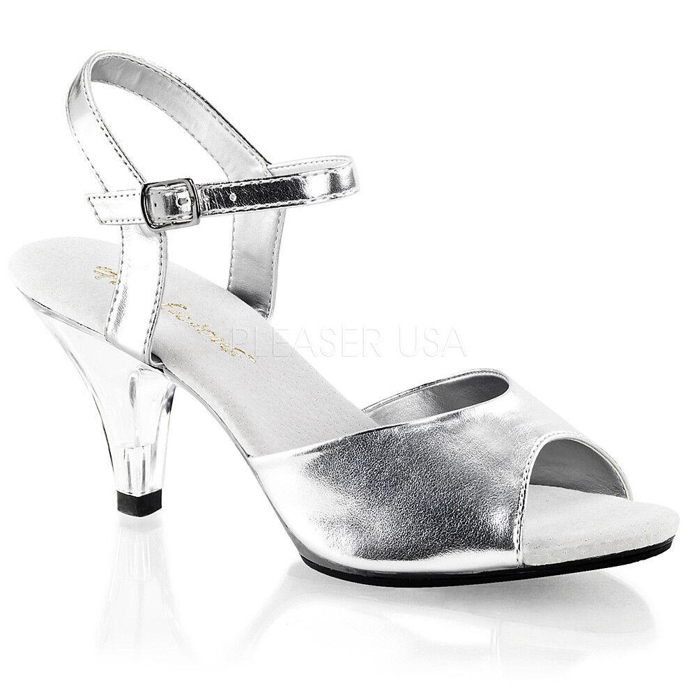 Sandalia de plata competencia us 11 Super acolchada bikini personaje competencia plata tacón alto 0ac3c2