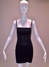 S/S 2005 Dolce & Gabbana Black Corset Wiggle Bandage Mini Dress 40