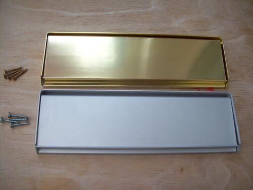 SPRUNG ALUMINIUM FACE FIX GRAVITY LETTER BOX POSTAL PLATE COVER TIDY
