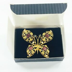 Details about  / VINTAGE AVON *GOLD-TONE AND AMETHYST CABOCHON TANGLED PIN//BROOCH* *NEW* 1992