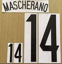 2015, Argentina Name Number SET,  MASCHERANO  #14