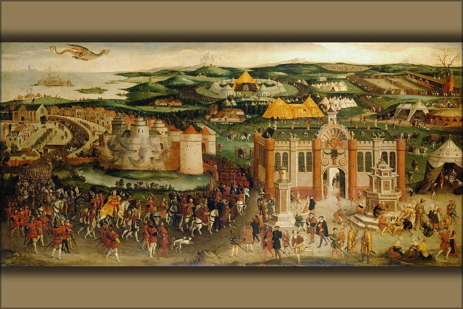 Poster, Molte Molte Molte Misure; Field Of The Panno D'oro da Hans Holbein il Giovane 1545 9e3578