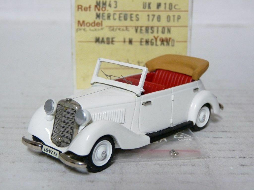 MiniMarque43 UK10C 1 43 Mercedes-Benz Mercedes-Benz Mercedes-Benz 170 Cabriolet Handmade White Metal Model 7baa6c