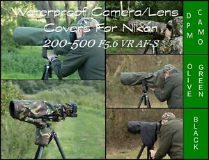 Waterproof-Camera-Lens-Cover-Nikon-200-500-F5-6-E-ED-VR-AF-S-4-colour-choice